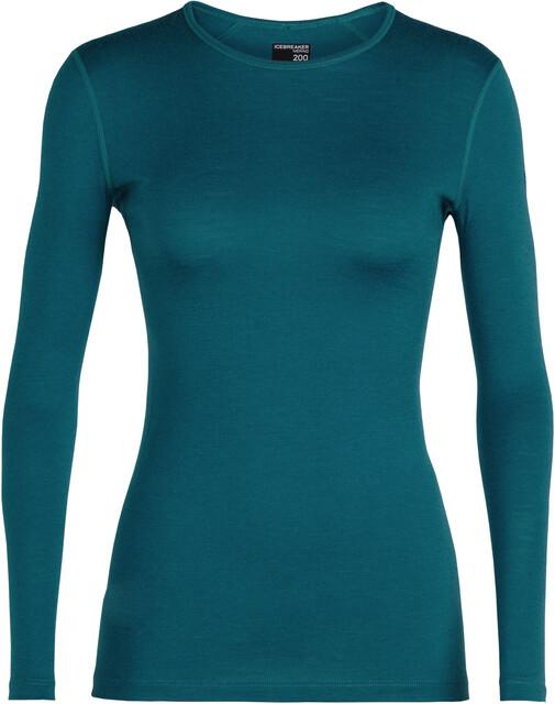 Icebreaker W's 200 Oasis Oasis Oasis LS Crewe Shirt Kingfisher a5aa26